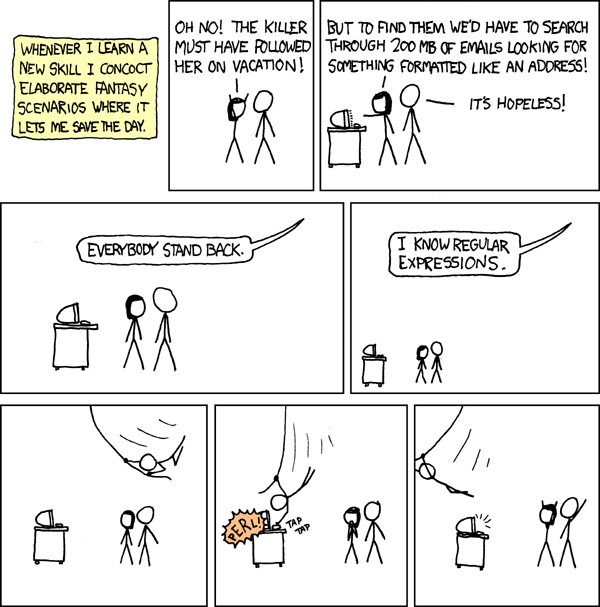 xkcd about regular expressions